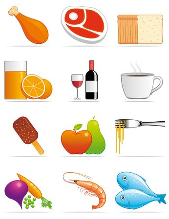 Food and beverages icons Stock Photo - 6118097