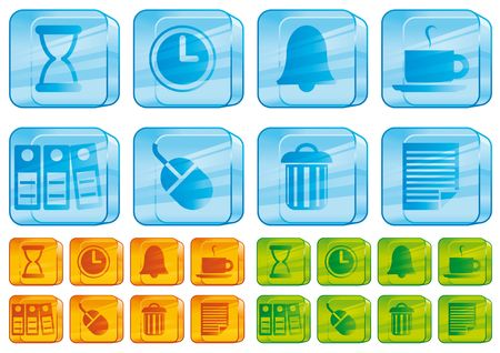 Office glass icons photo
