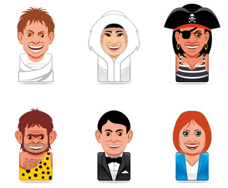 Cartoon people icons photo