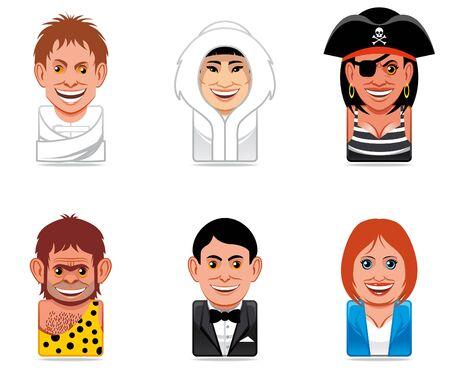 Cartoon people icons photo