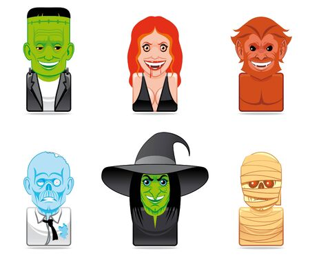Avatar monster icons Stock Photo - 6713878