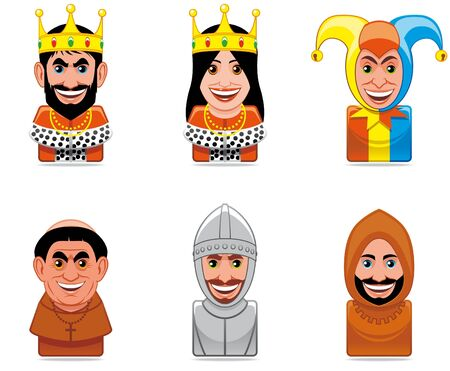 Cartoon people icons (middle ages)  photo