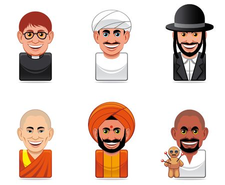 Cartoon people icons (religion) photo