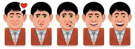 yawn: Avatar people icons (facial expressions:in love,whistle,yawn)
