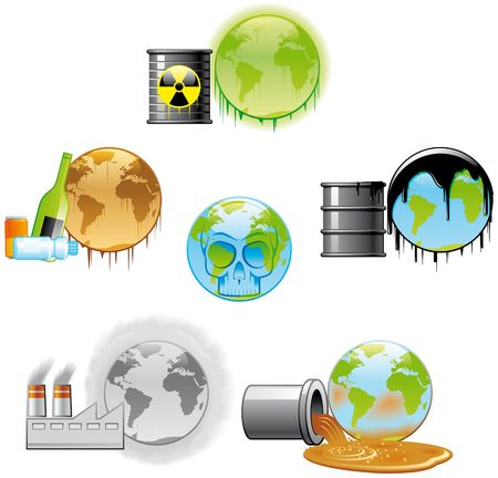 Environmental Pollution Icons photo