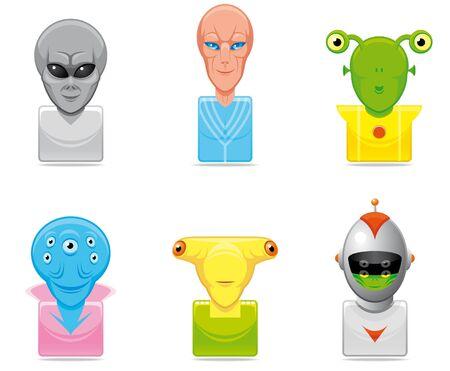 Avatar alien icons photo