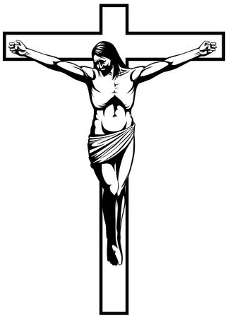 Lineart illustration Crucifixion Stock Illustration - 8196437