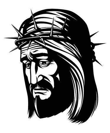 イバラの冠を持つイエス ・ キリストの分離の肖像画