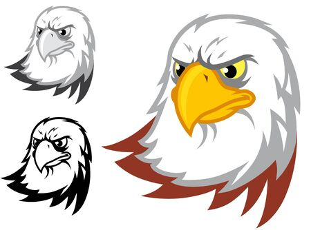 monotone:  Eagle head Color,monotone and b&w version
