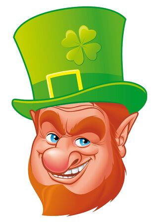 clover face: Leprechaun head