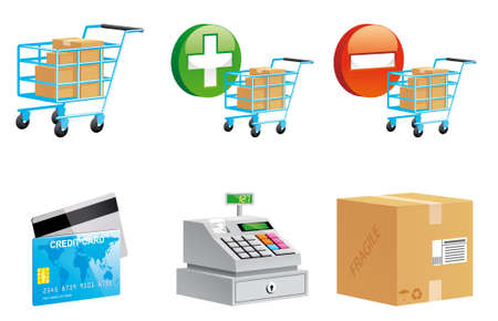 Set of  Shopping onlinet icons 3d series Stock Photo - 8925673