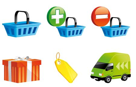 Shopping online icons 3d series photo