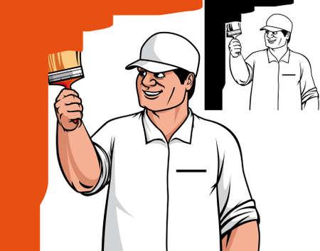 cartoon painter: Painter painting