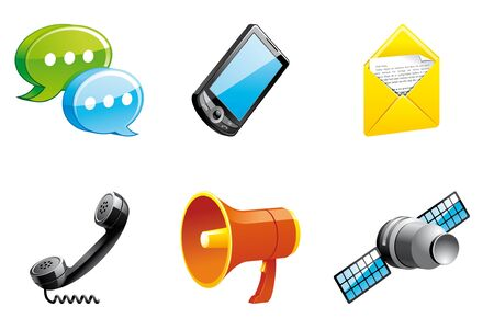 mobil phone: Communication icons 3d series