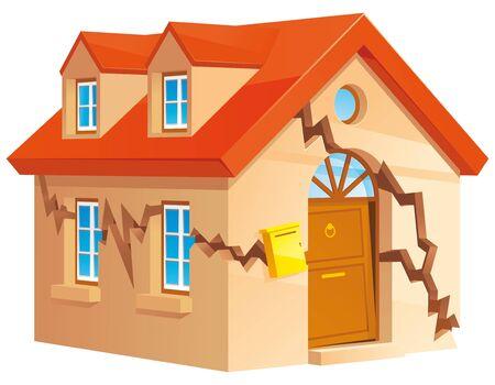 broken house: Cracked house