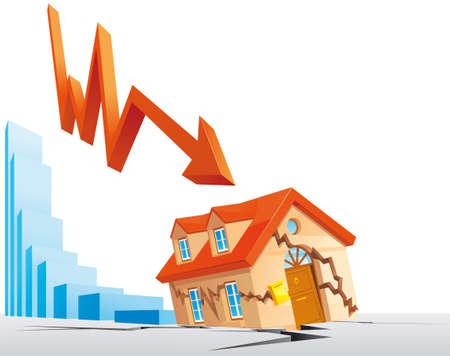 crashed: Real estate crisis Stock Photo