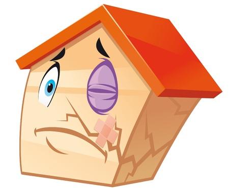 House mascot damaged Stock Photo - 9592685