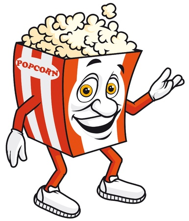 Popcorn mascot Stock Photo - 9749749