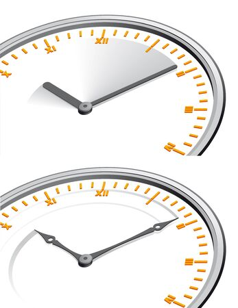 time flies: Time flies concepts Clock hands with motion Stock Photo