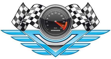 checker: Racing insignia Stock Photo