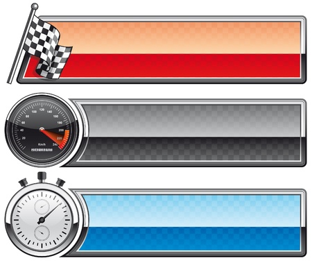 checker flag: Racing banners