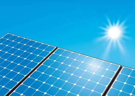 Solar panels on sunny sky Stock Photo - 10280751