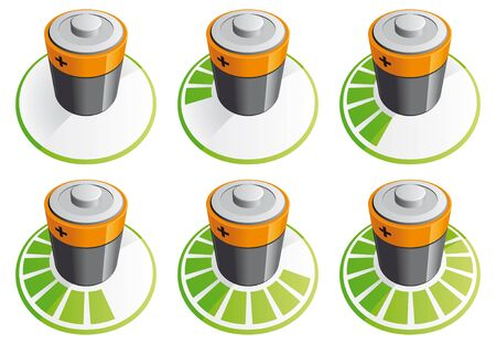 Battery charging icons Stock Photo - 10475251