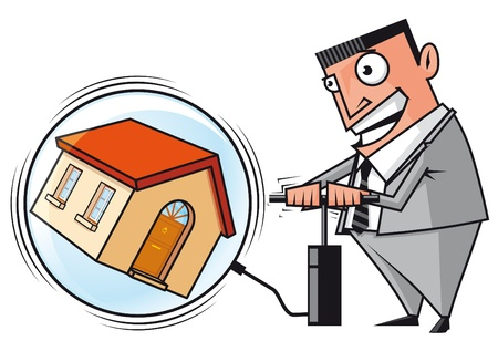 Speculator inflating the real estate bubble