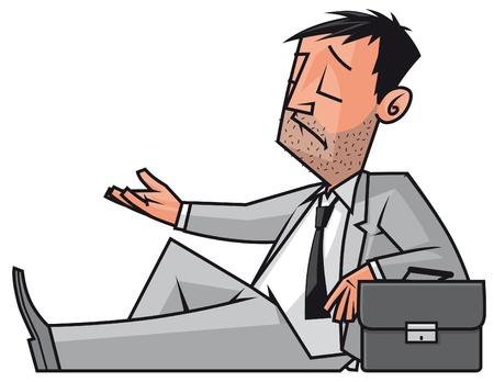 limosna: Hombre de negocios arruinado la mendicidad Foto de archivo