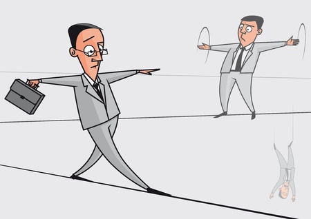 tightrope walker: Businessmen on the tightrope
