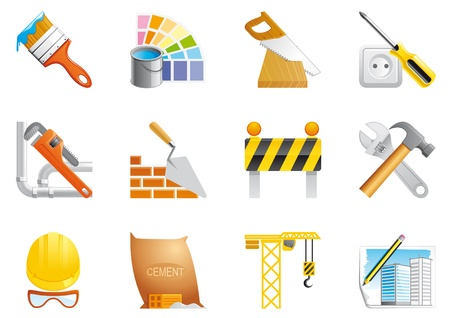 tool bag:  Architecture and construction icons Stock Photo