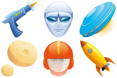 Space icons Stock Photo - 11914706