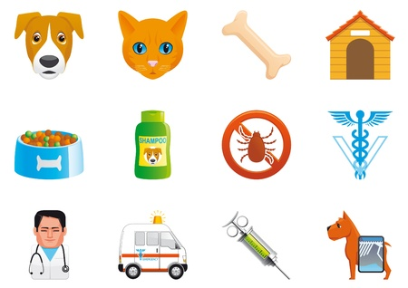 Pets and veterinary icons photo