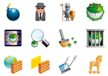 Internet security icons Stock Photo - 13998725