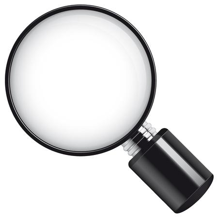 Isolated illustration Magnifying glass illustration