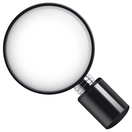 Isolated illustration Magnifying glass