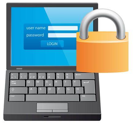 locked: Locked computer
