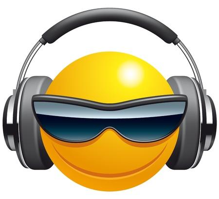 headphones icon: Emoticon DJ