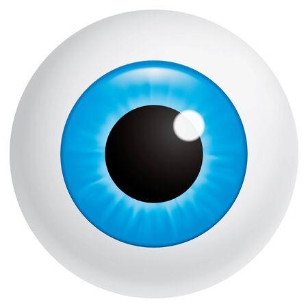Blue eyeball looking at spectator photo