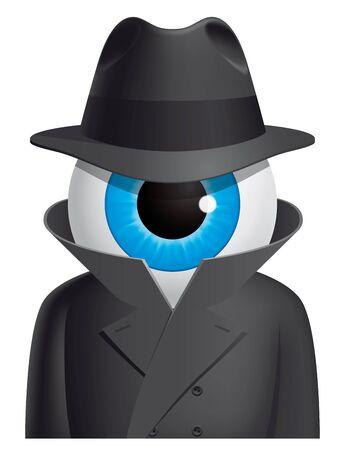 Eyeball spy character photo