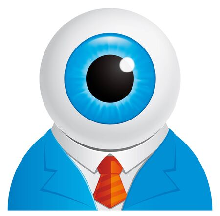 Eyeball businessman character photo