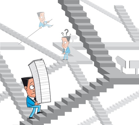 bureaucracy: Businessmen lost in the bureaucracy maze