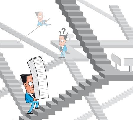 burocracia: Empres�rios perdido no labirinto da burocracia