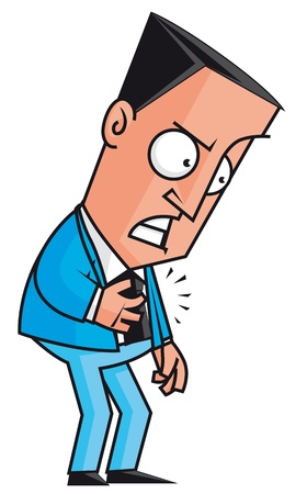 heart pain: Heart attack of stressed businessman