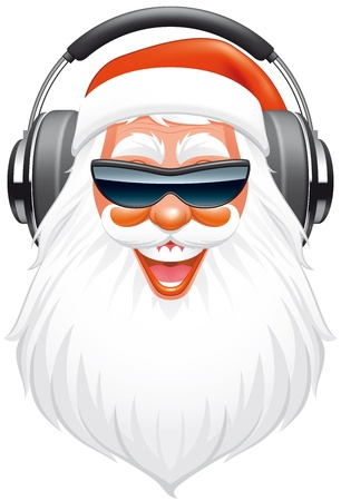 cartoon santa: Santa DJ