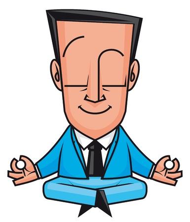 man meditating: Businessman yoga Stock Photo