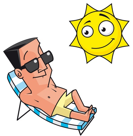 sonnenbaden: Sommerurlaub Lizenzfreie Bilder