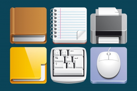Office icons Stock Photo - 17757531