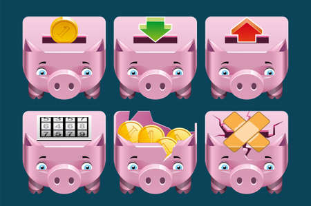Piggy bank  icons photo