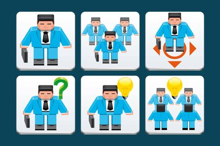 lenght: Business people  icons Stock Photo